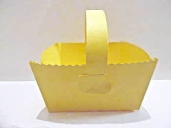 Easter Favour Baskets Gift Box  Yellow Pearlised Card   Wedding favours  baby showers